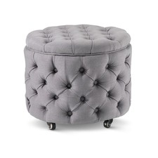 Small Wolf Grey Jessica Storage Ottoman