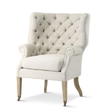 Taupe Hampton Wing Chair