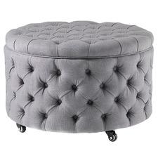 Grey Large Jessica Storage Ottoman