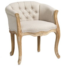 Taupe Cabriole Eleanor Chair