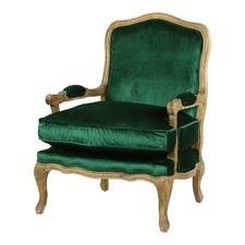 Emerald French Provincial Adele Occasional Chair