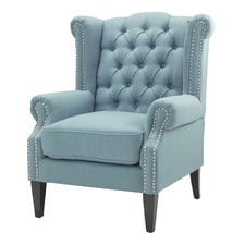 Teal Duke Wingback Armchair