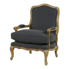 Charcoal Adele French Provincial Occasional Chair