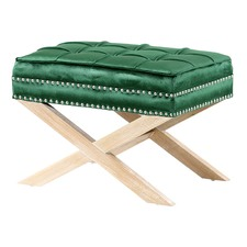 Emerald & Oak Vanessa Upholstered Footstool