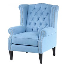 Duck Egg Blue Royale Wingback Arm Chair