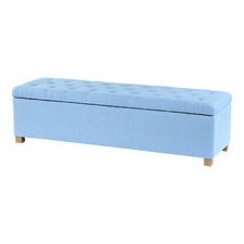 Duck Egg Blue Ashlee Blanket Box