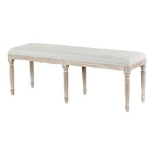 Taupe French Provincial Dining Bench