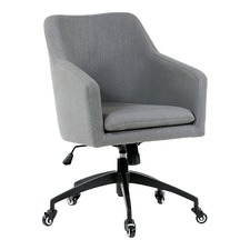 Wolf Grey Davis Upholstered Desk Chair