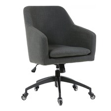 Charcoal Davis Upholstered Desk Chair