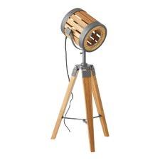 Tripod Bamboo Search Light Table Lamp