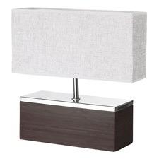 Dark Bamboo Block Table Lamp