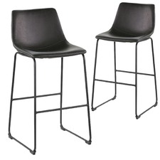 Houston Faux Leather Barstools (Set of 2)