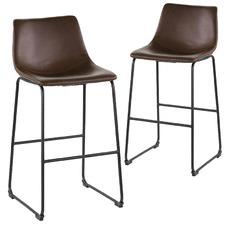 Houston Faux Leather Barstools (Set of 2)
