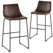 Orleans Faux Leather Barstools (Set of 2)