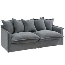 Slate Cumulus 3 Seater Slipcover Sofa