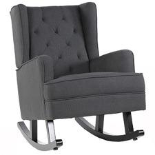 Charcoal Isla Wingback Rocking Chair