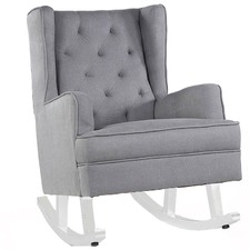 Wolf Grey Isla Wingback Rocking Chair