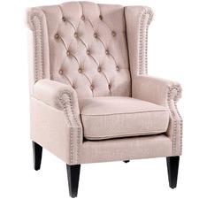 Dusty Pink Duke Wingback Armchair