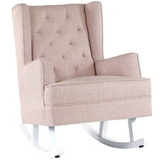 Dusty Pink Isla Wingback Rocking Chair