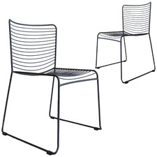 Gallery Wire Stackable Outdoor Dining Chairs (Set of 2)