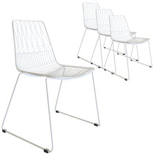 Aztec Wire Stackable Outdoor Dining Chairs (Set of 4)
