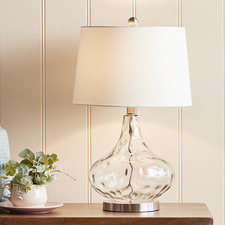 Clear Tear Drop Table Lamp