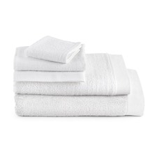 White Bamboo & Cotton Turkish Bathroom Towels