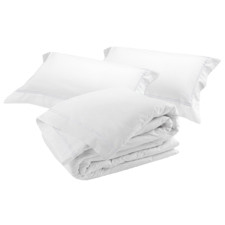 White Classique Tailored Cotton Duvet Cover Set