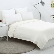 Waffle Egyptian Cotton Blanket Cream