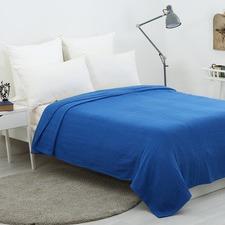 Waffle Egyptian Cotton Blanket Blue