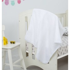 White Polar Polyester Fleece Throw