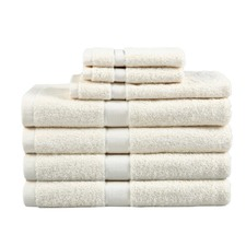 Cream 7 Piece Egyptian Cotton Towel Set