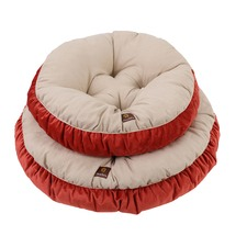 Charlie's Cream & Orange Pet Round Bed Cushion