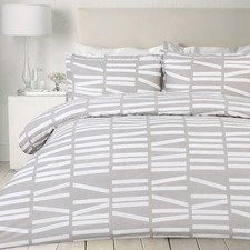 Sticks Printed Egyptian Cotton Quilt Cover Set