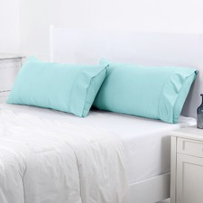 Canal Blue King Plain Dyed King Pillowcase