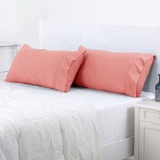 Rose Plain Dyed King Pillowcase