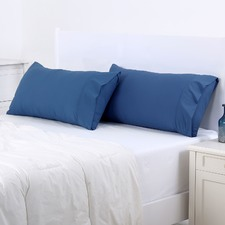 Insignia Blue Plain Dyed King Pillowcase