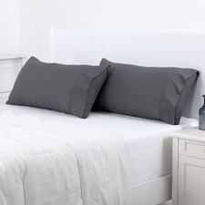 Charcoal Plain Dyed King Pillowcase