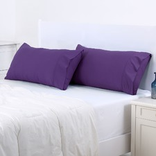 Plum Plain Dyed King Pillowcase