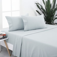 Silver Egyptian Cotton Flannelette Sheet Set