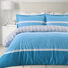 Blue Atlantis Egyptian Cotton Quilt Cover Set