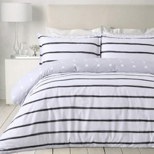 Black & White Stripes Egyptian Cotton Quilt Cover Set
