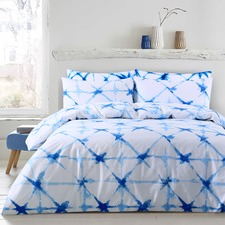 Faded Crosses Printed Cotton Quilt Cover Set