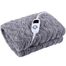 Faux Fur Heated Throw Blanket
