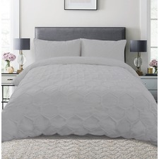 Slate Hexagon Microfibre Quilt Cover Set