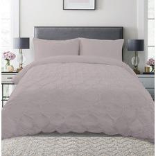 Pink Hexagon Microfibre Quilt Cover Set