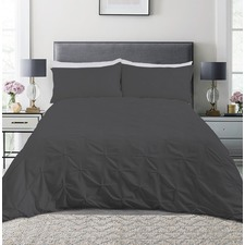 Charcoal Diamond Microfibre Quilt Cover Set