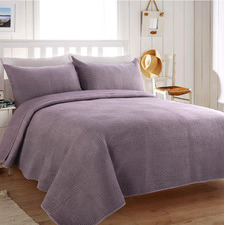 Sandwashed Wine Morgan Quilted Coverlet