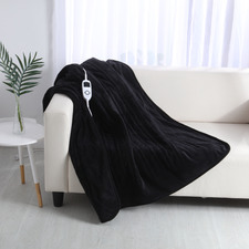 Black Electric Heated Blanket