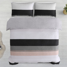 Jewel Reversible Cotton Sateen Quilt Cover Set